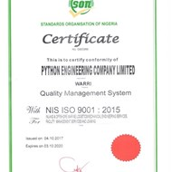 NIS ISO 9001: 2015 Certificate
