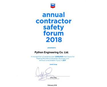 Award From Chevron Nigeria Limited
