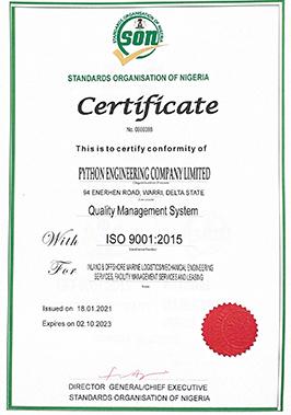 NIS ISO 9001: 2015